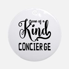 One of a Kind Concierge Round Ornament