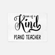 One of a Kind Piano Teacher 5'x7'Area Rug