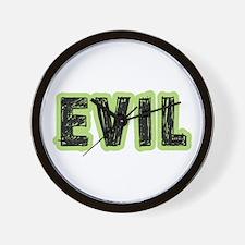 Evil Halloween Costume Wall Clock