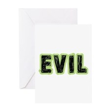 Evil Halloween Costume Greeting Card