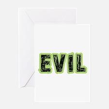 Evil Halloween Costume Greeting Card