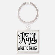 One of a Kind Athletic Trainer Square Keychain