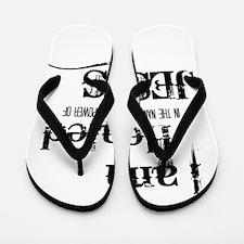 I AM HEALED Flip Flops