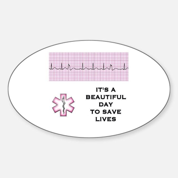 Cute Paramedic graduation Sticker (Oval)