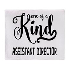 One of a Kind Assistant Director Throw Blanket