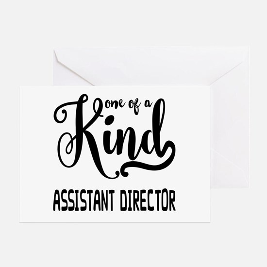 One of a Kind Assistant Director Greeting Card