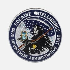 D.E.A. Cocaine Intel Ornament (Round)