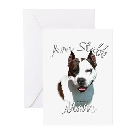 Am Staff Mom2 Greeting Cards (Pk of 20)