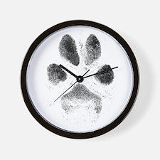 Zoe Pawprint Wall Clock