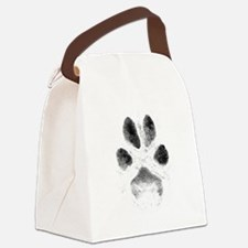 Zoe Pawprint White Canvas Lunch Bag