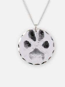 Zoe Pawprint White Necklace