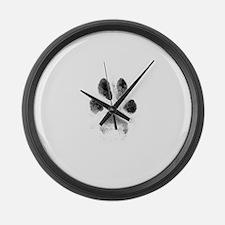 Zoe Pawprint White Large Wall Clock