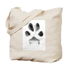 Zoe Pawprint White Tote Bag