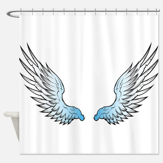 Angel wings x Shower Curtain