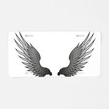 Angel wings x Aluminum License Plate