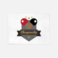 Ping Pong Championship 5'x7'Area Rug