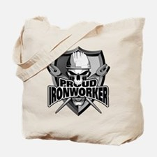 Proud Ironworker Skull Tote Bag