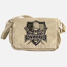 Proud Ironworker Skull Messenger Bag