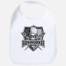Proud Ironworker Skull Bib