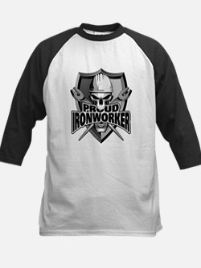 Proud Ironworker Skull Baseball Jersey