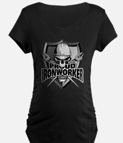 Proud Ironworker Skull Maternity T-Shirt