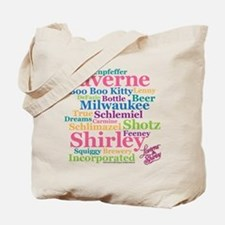 Laverne and Shirley: Word Cloud Tote Bag
