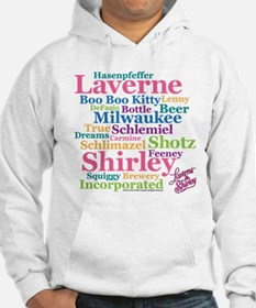 Laverne and Shirley: Word Cloud Hoodie