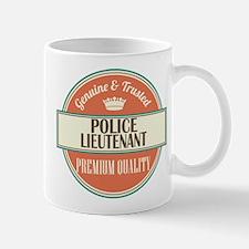 police lieutenant vintage logo Mug