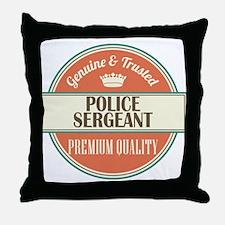 police sergeant vintage logo Throw Pillow