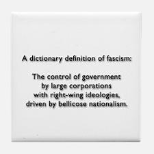 Fascism Tile Coaster