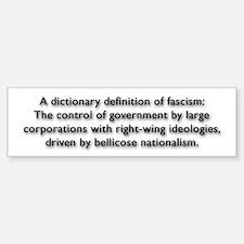 Fascism Bumper Bumper Sticker