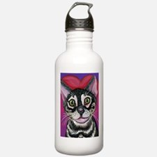 Bengal Cat Valentine Water Bottle