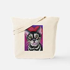 Bengal Cat Valentine Tote Bag