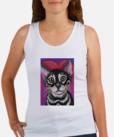 Bengal Cat Valentine Tank Top