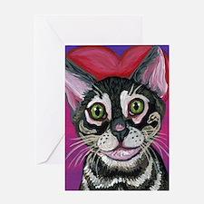 Bengal Cat Valentine Greeting Cards