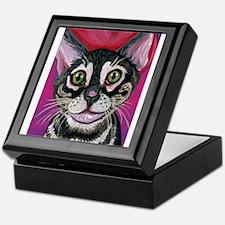 Bengal Cat Valentine Keepsake Box
