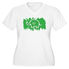 Elephant Plus Size T-Shirt
