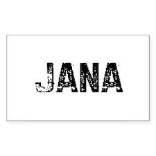 Jana Rectangle Decal