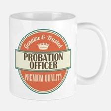 probation officer vintage logo Mug