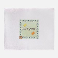Manitowoc County monopoly Throw Blanket
