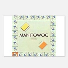 Manitowoc County monopoly Postcards (Package of 8)