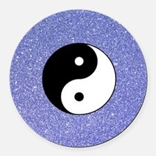 Funny Yin Round Car Magnet