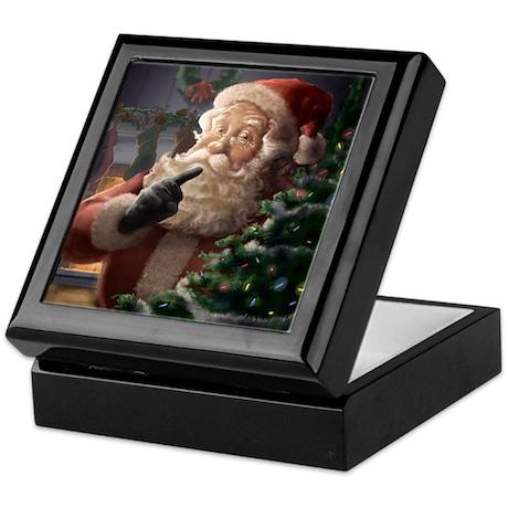 Piebrand Father Christmas Keepsake Box.