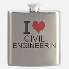 I Love Civil Engineering Flask