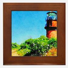 Gay Head Lighthouse Framed Tile
