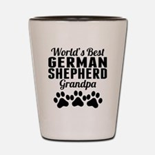 World's Best German Shepherd Grandpa Shot Glass