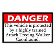 Attack Treeing Walker Coonhound Decal