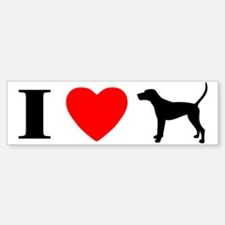 I Love Treeing Walker Coonhound Bumper Bumper Bumper Sticker