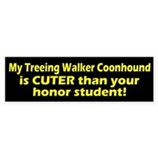 Cuter Treeing Walker Coonhound Bumper Car Sticker
