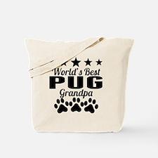 World's Best Pug Grandpa Tote Bag